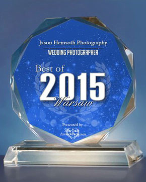 Jason Hemsoth Photography is awarded the Best Wedding Photographer of Warsaw 2015.