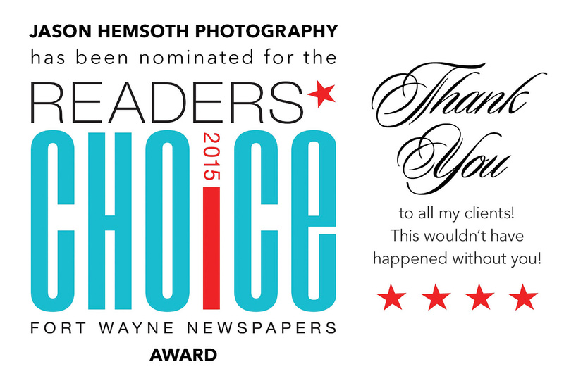 Vote Now: Best Photographer Fort Wayne Newspapers Readers Choice Award 2015